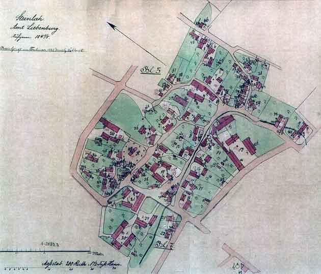 Ortslage Steinlah, Anno 1885